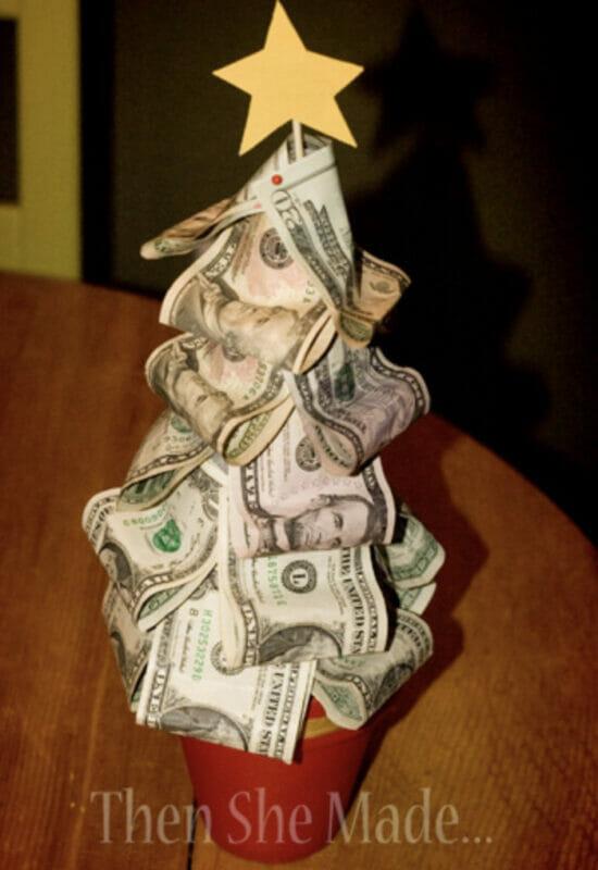 how to make a christmas money tree
