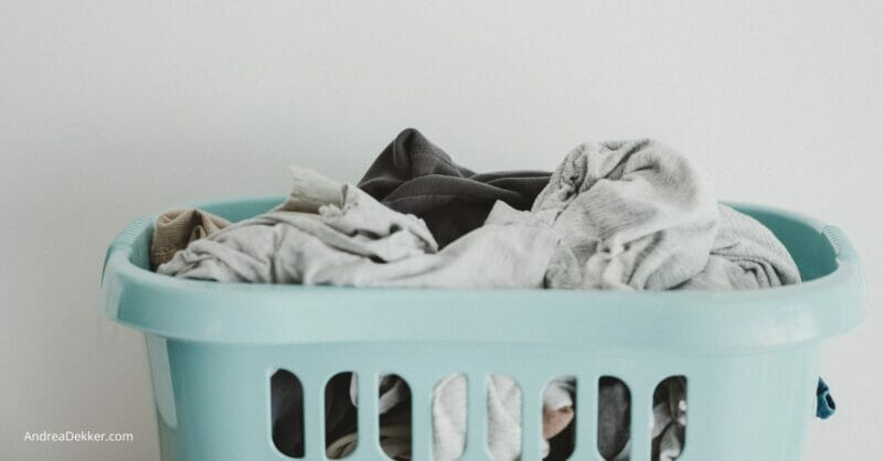 clean laundry in laundry basket