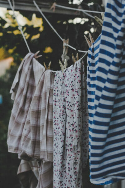 clothing on the line