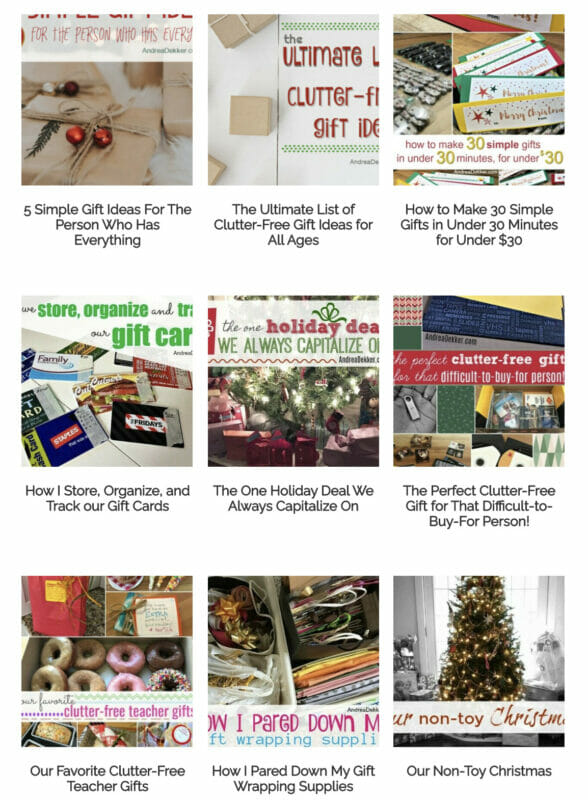 clutter free gift ideas