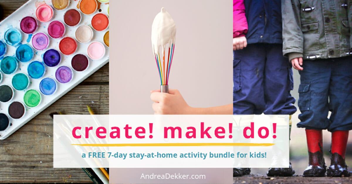 create make do free activity bundle for kids