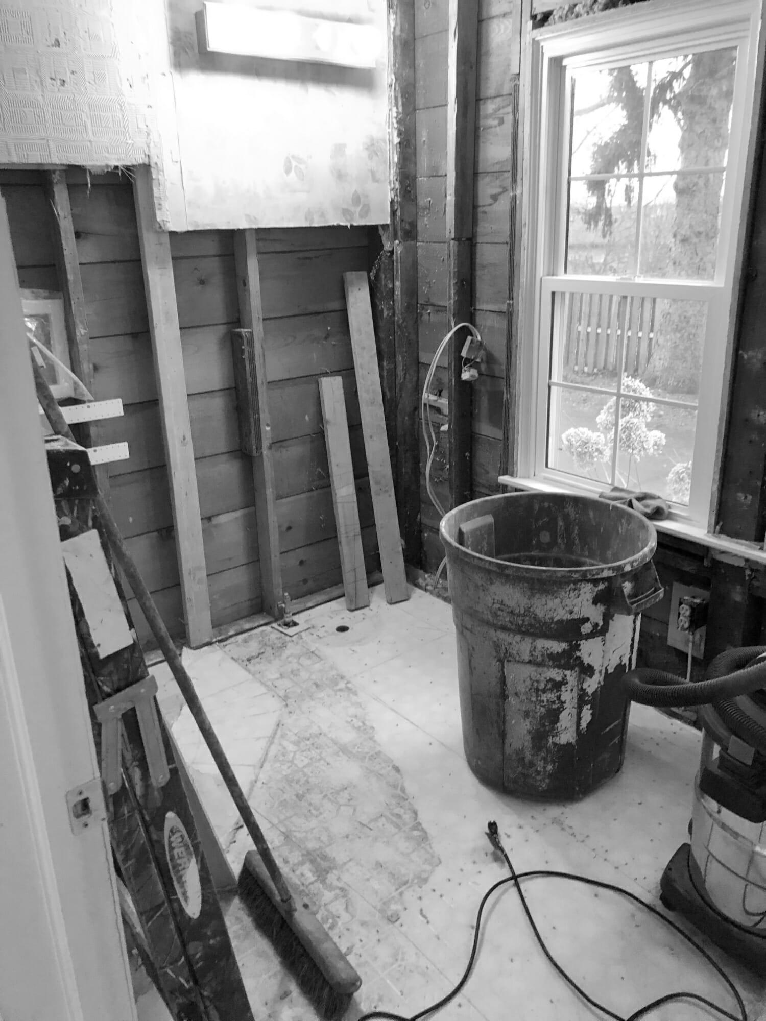 laundry room demolition