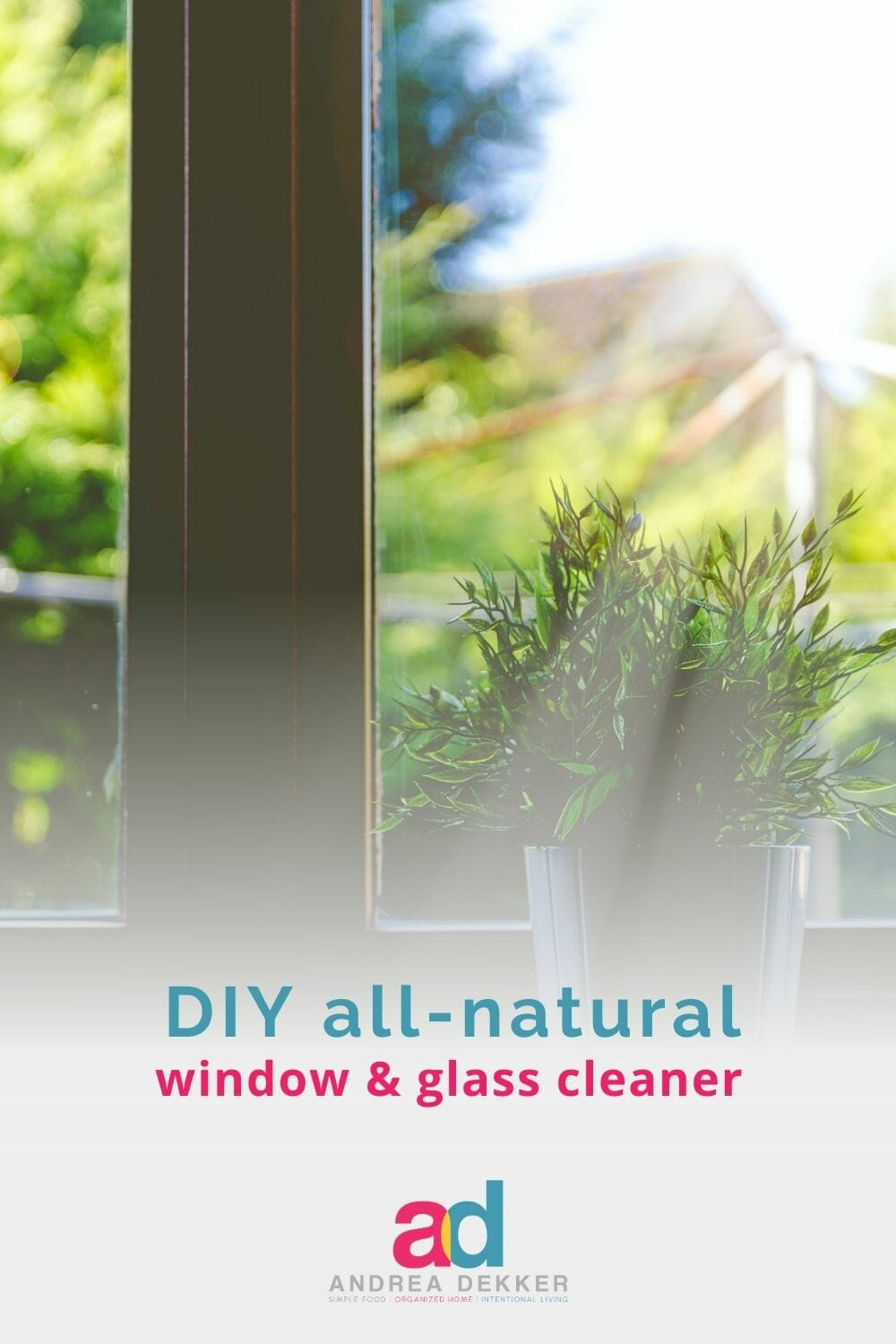 Stop using harsh chemicals to clean your windows, and instead, try my simple, all-natural window and glass cleaner that cleans better and faster than traditional store-bought cleaners! via @andreadekker