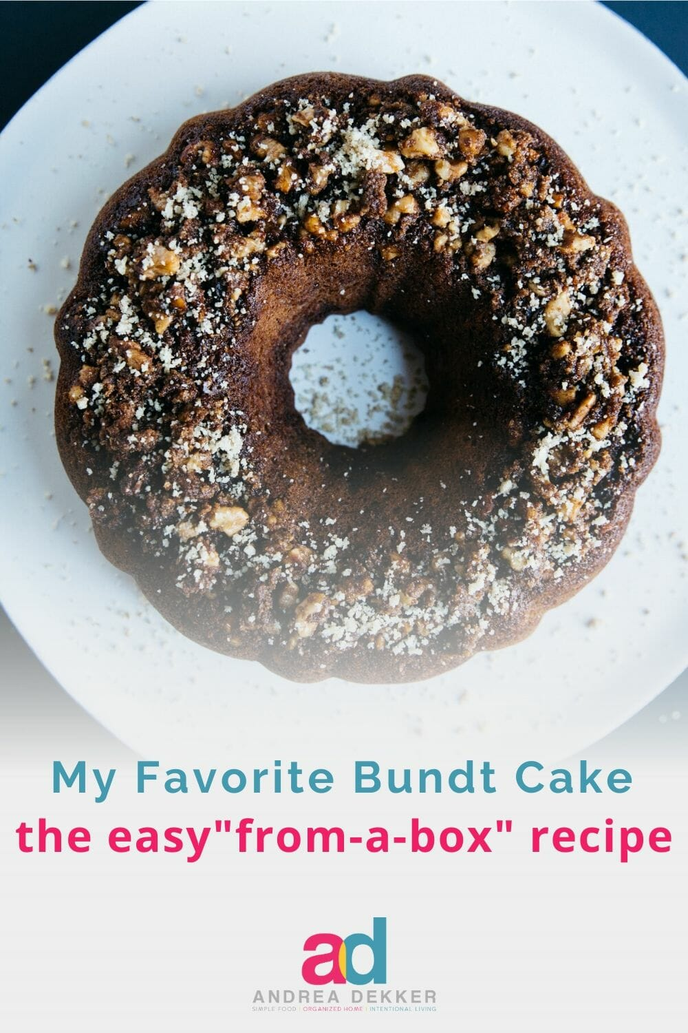 This easy bundt cake recipe is simple enough for kids to help, it can be tweaked based on your personal preferences (or whatever ingredients you have in the pantry), and it freezes wonderfully. It's basically the perfect sweet treat for any occasion! via @andreadekker