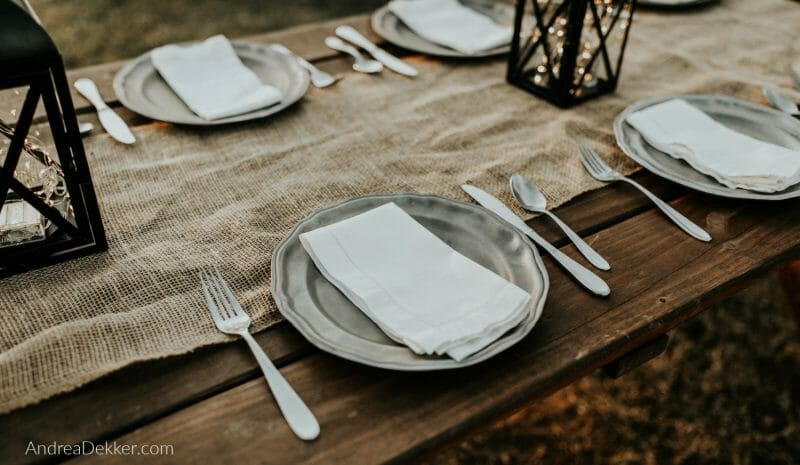 table set and ready to eat