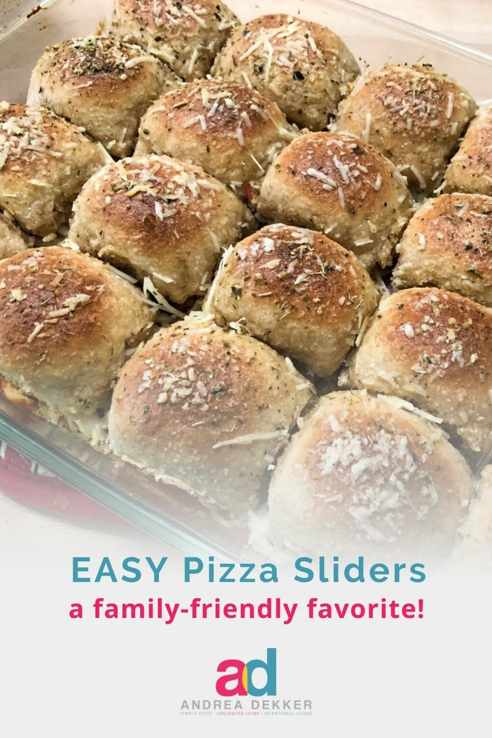 This easy recipe for pizza sliders is sure to go over well with your tribe. Whether you need a quick weeknight meal or fun finger food for the big game, pizza sliders will do the trick. via @andreadekker