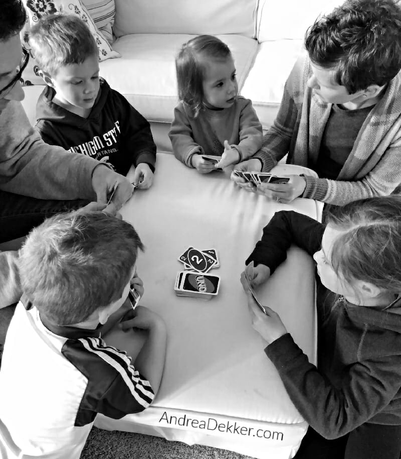 playing cards together