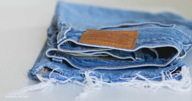 folded jeans