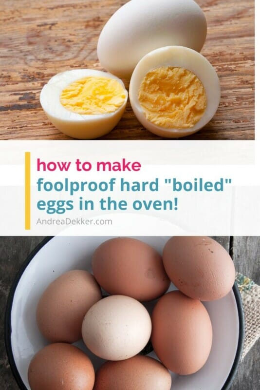 how to make hardboiled eggs in the oven