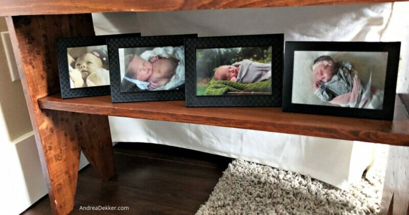 framed baby pictures