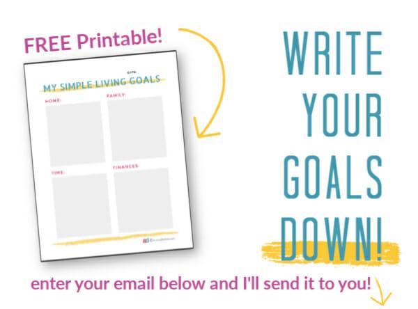 written goals worksheet