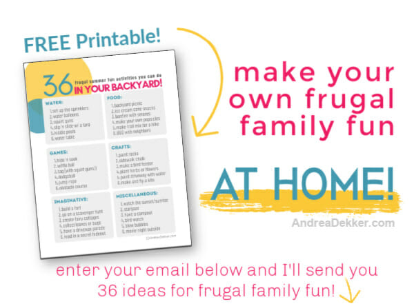 frugal family fun signup form