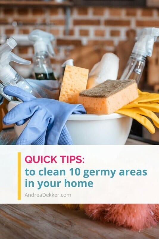 how to clean 10 germy areas in your home