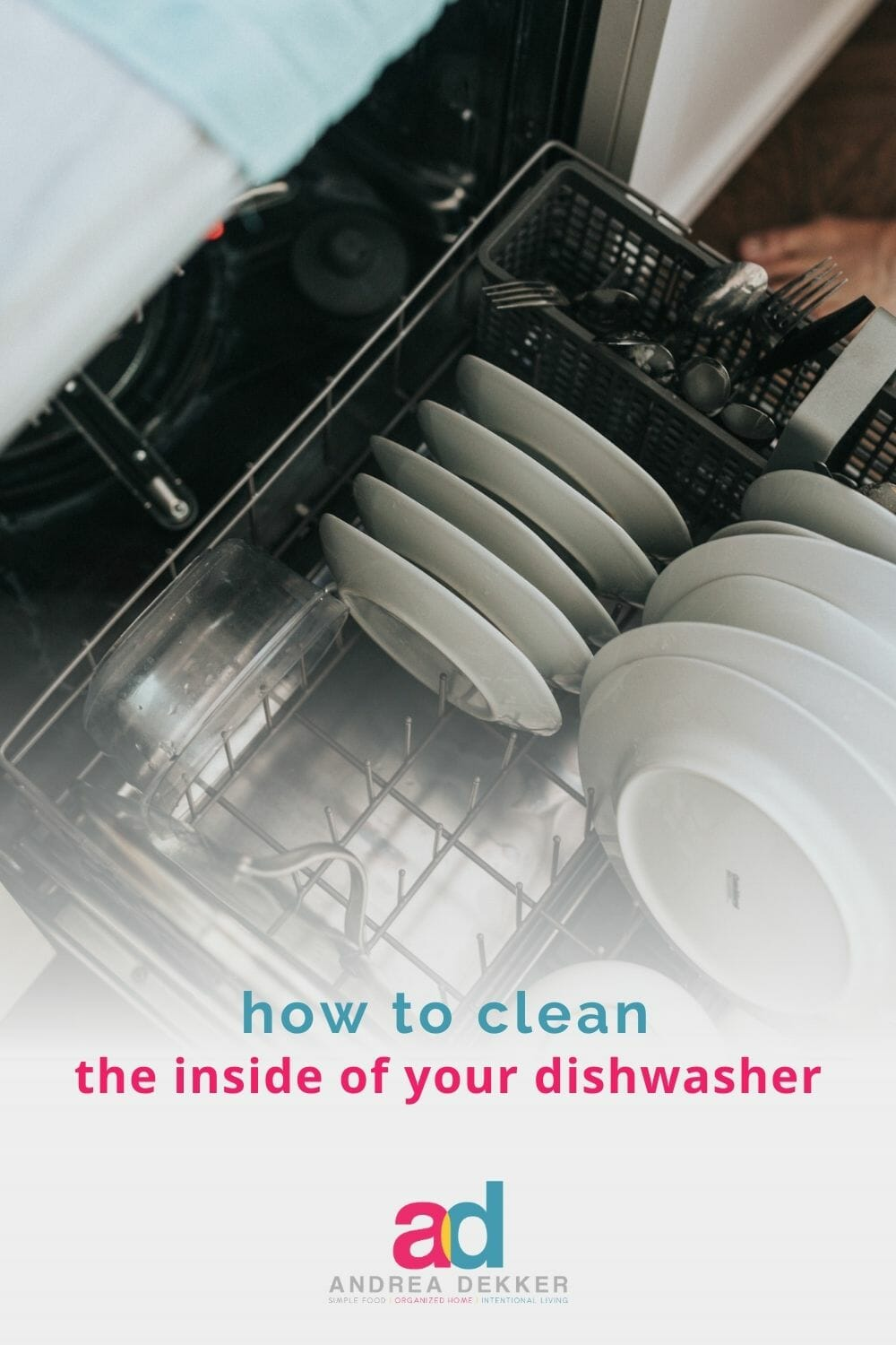 Get the simple, 3-step cleaning process that will have the inside of your dishwasher looking (and smelling) like new again! via @andreadekker