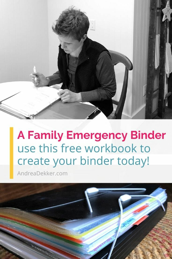 Be prepared for an emergency by creating your own Family Emergency Binder with these detailed instructions, helpful tips, valuable resources, and a FREE downloadable workbook! via @andreadekker