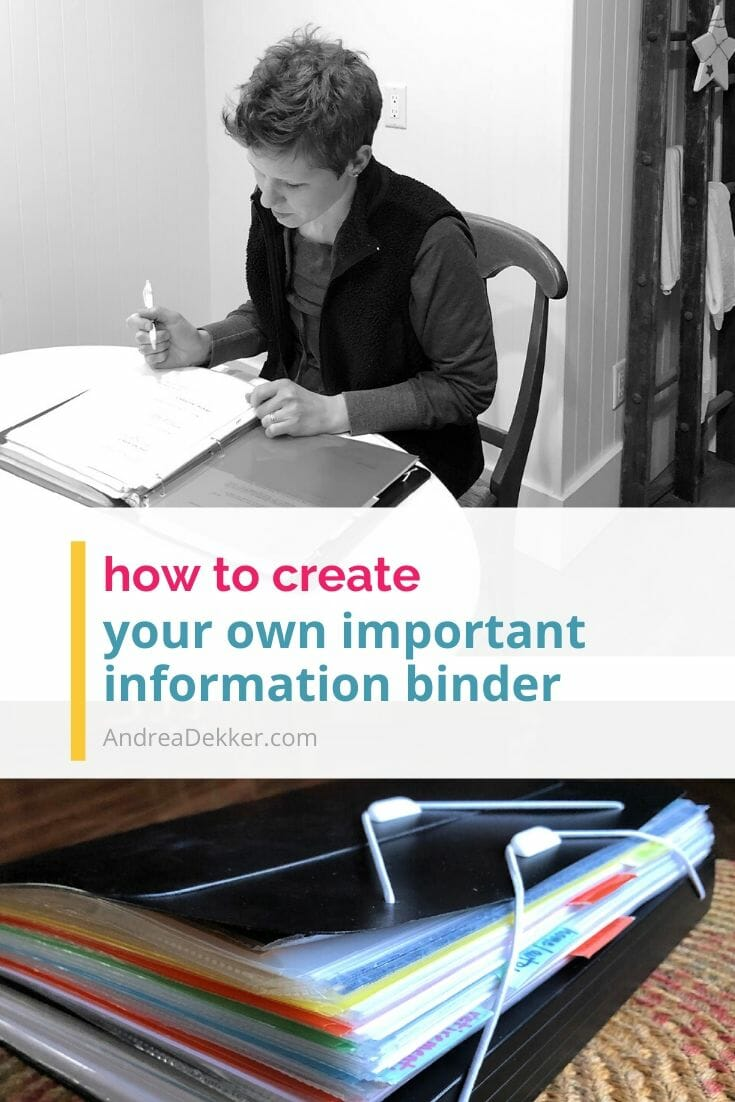 how to create an important information binder via @andreadekker