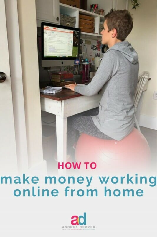 how to make money working online from home