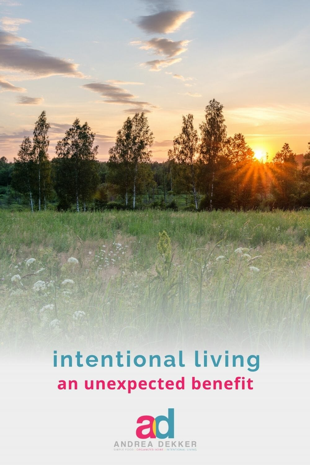 Ironically enough, one of my favorite benefits of living a simpler, slower, more intentional lifestyle is also a completely unexpected benefit. via @andreadekker