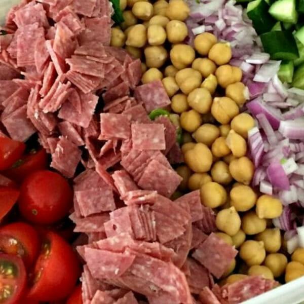 easily italian chopped salad