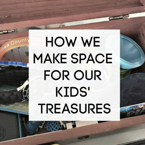 how to make space for kids' treasures