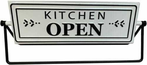 kitchen open sign