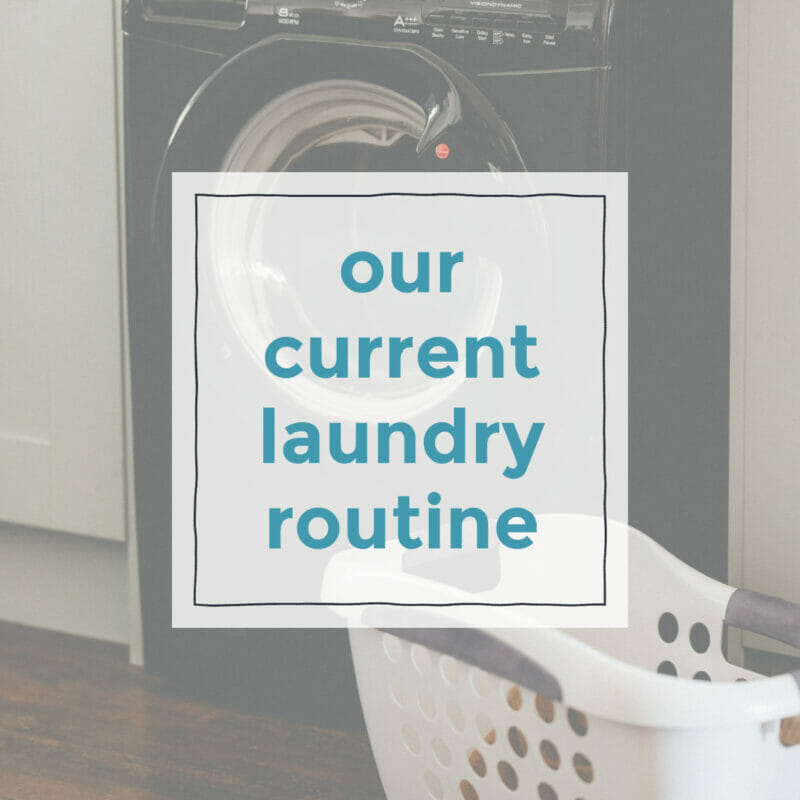 our laundry routine