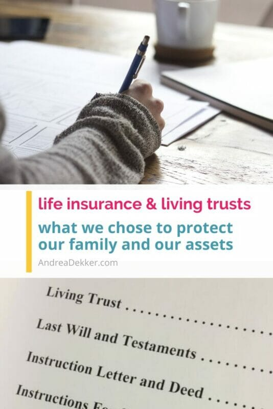 life insurance and living trusts