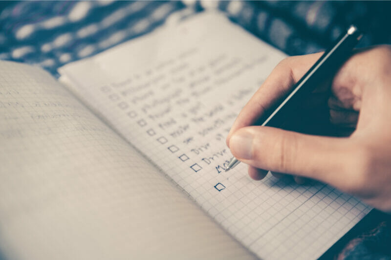 weekly to-do lists