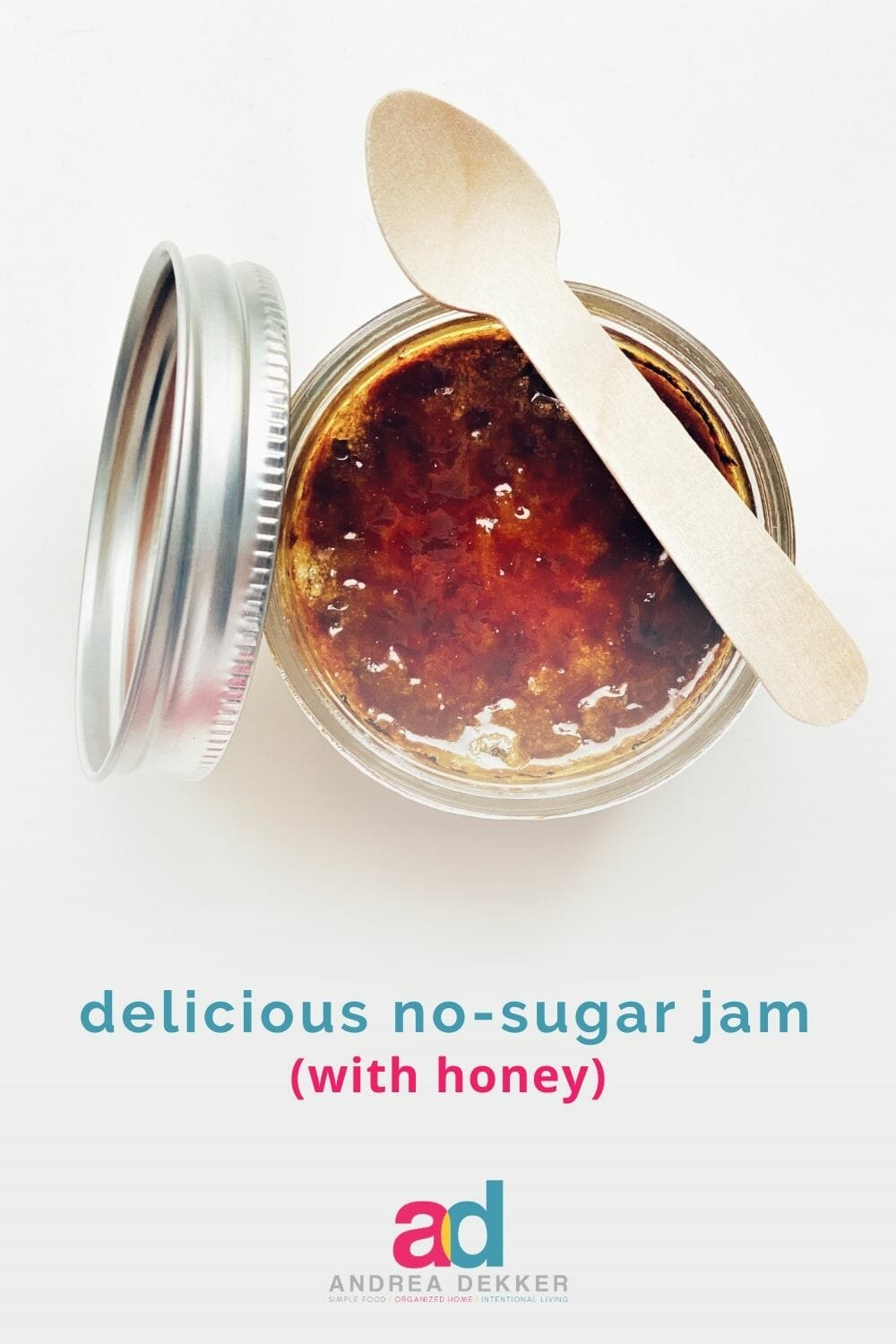 Get the great taste of homemade jam without all the refined white sugar. Just a little bit of honey does the trick — no one will know the difference! via @andreadekker