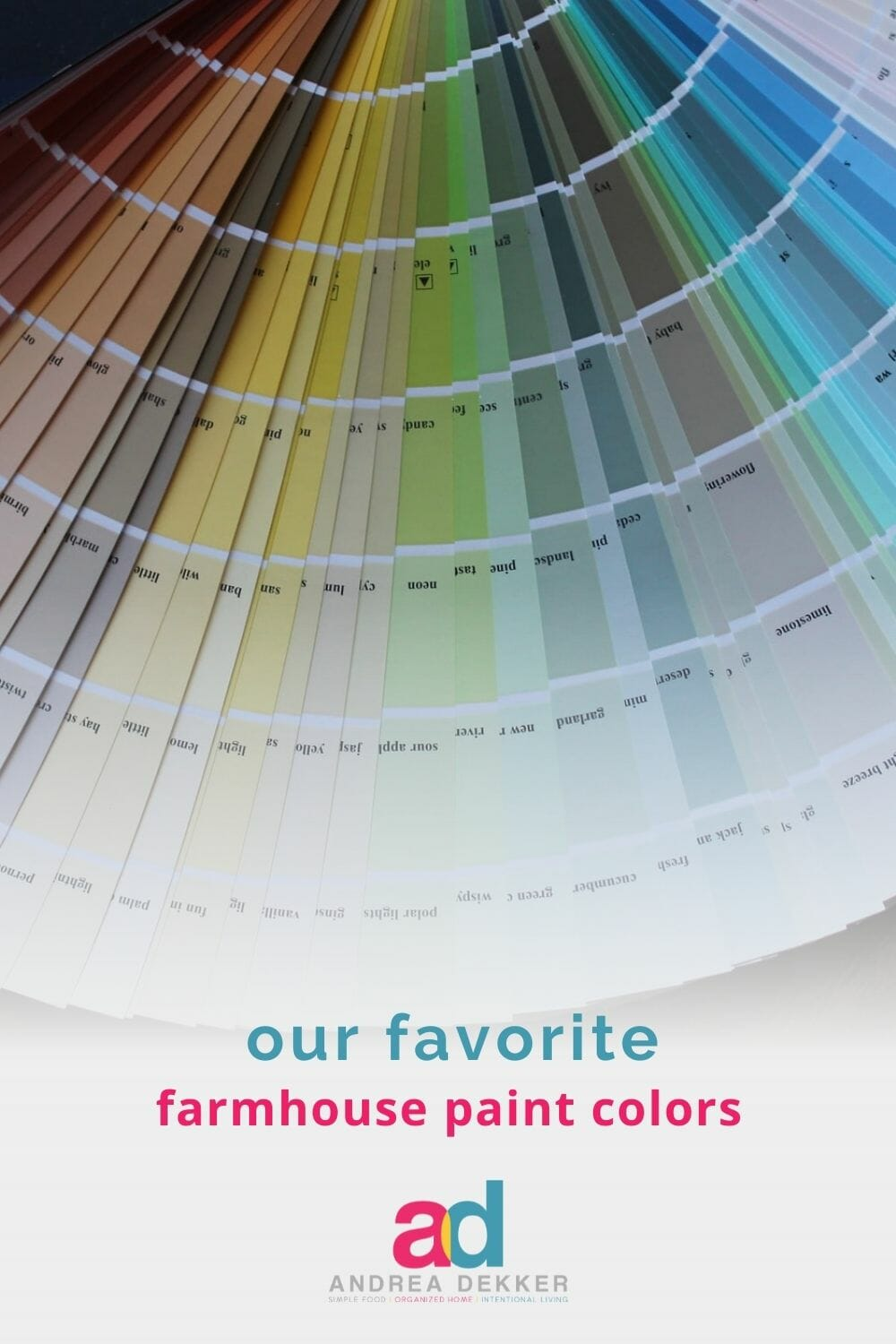 Give your home a farmhouse facelift with our favorite farmhouse paint colors -- it's one of the quickest and least expensive ways to update your home! via @andreadekker