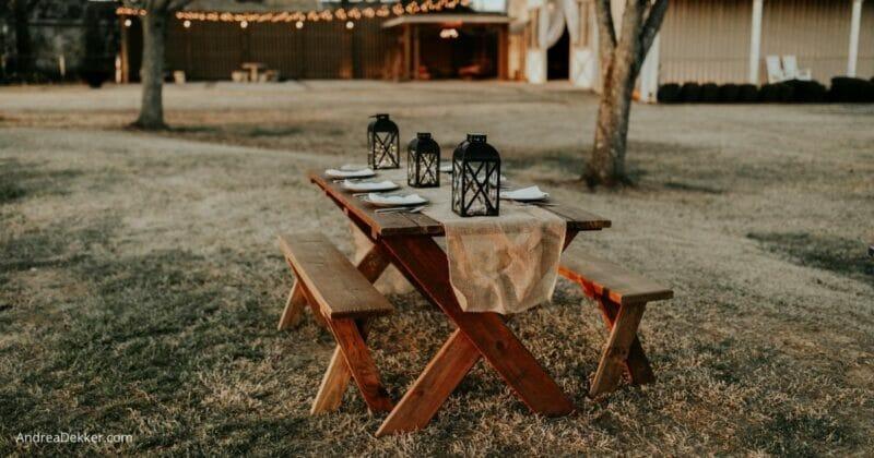 simpler outdoor entertaining
