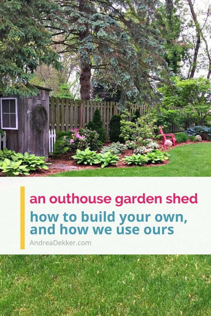 an outhouse garden shed