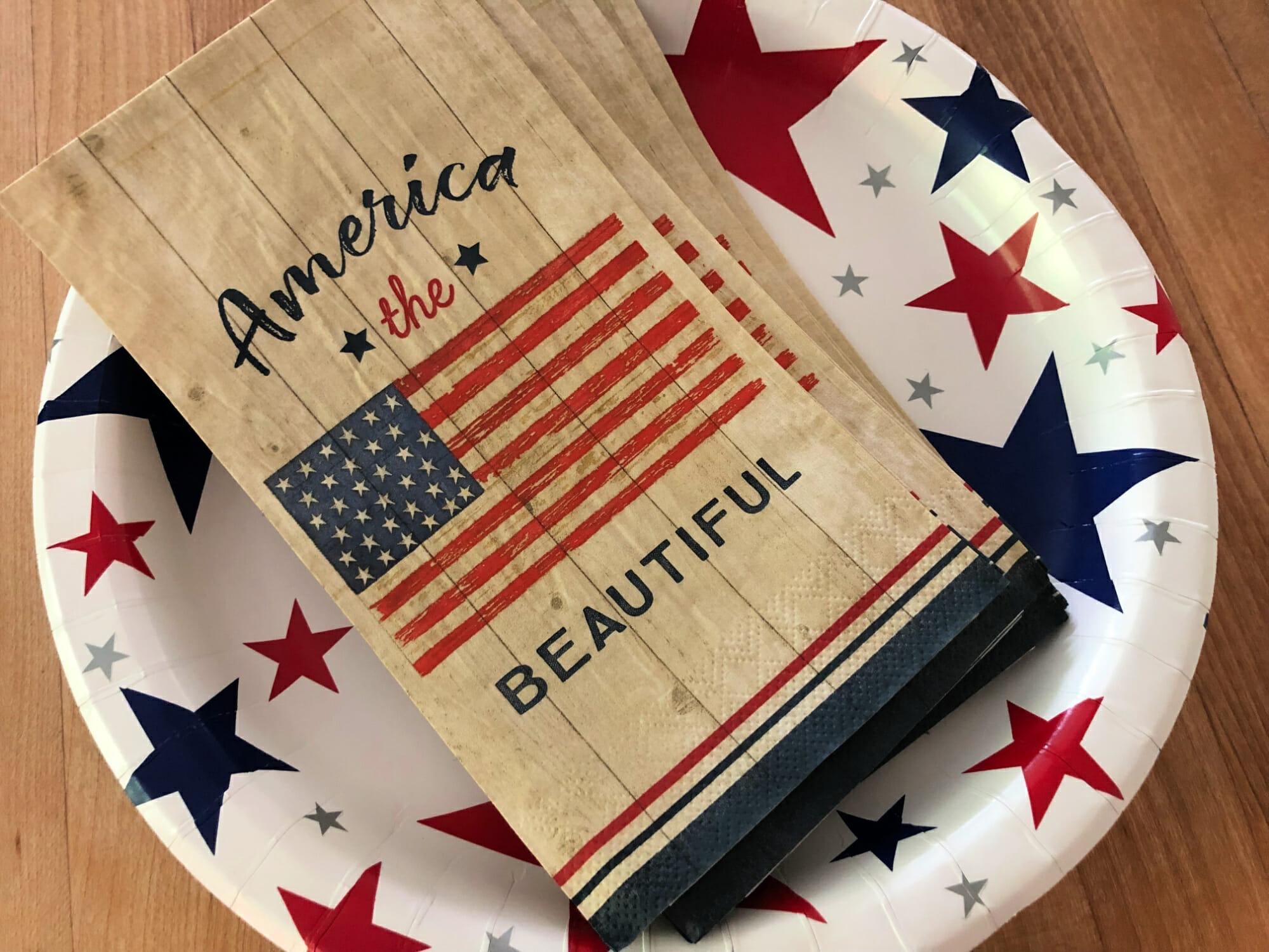 patriotic napkins