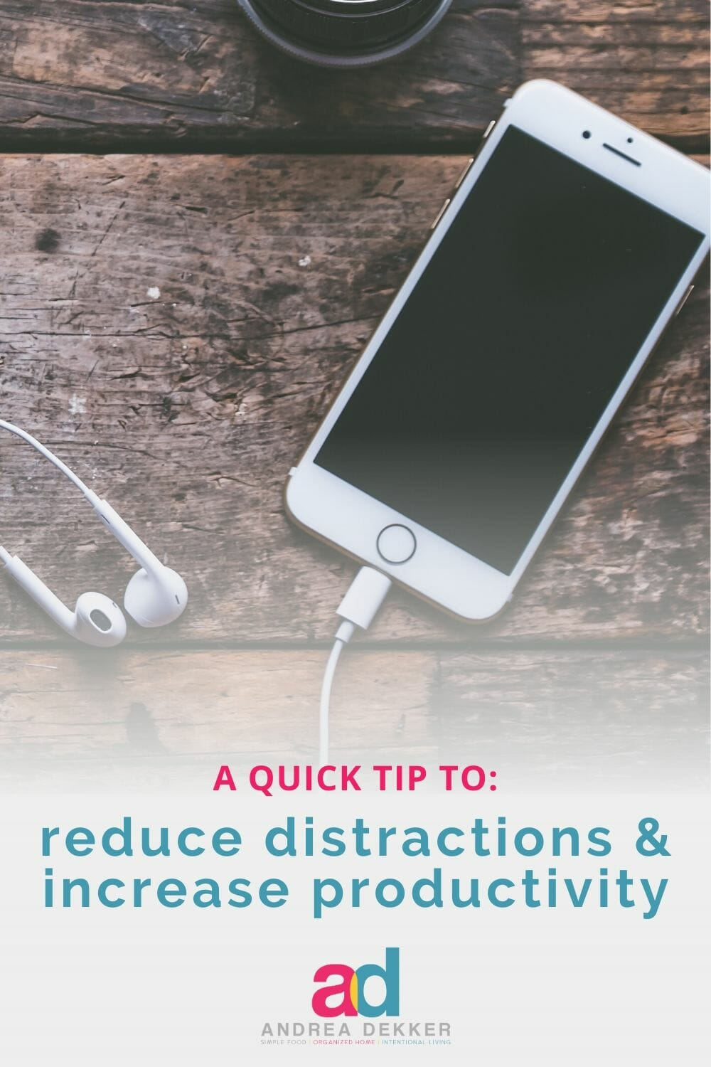 This 1-minute quick tip will instantly boost productivity, reduce distractions, and eliminate wasted time. If you are constantly distracted by your phone, if you're frustrated with the amount of time you waste on your device, or if you're looking for a really quick way to instantly boost your productivity each day, this quick-tip is for YOU! via @andreadekker