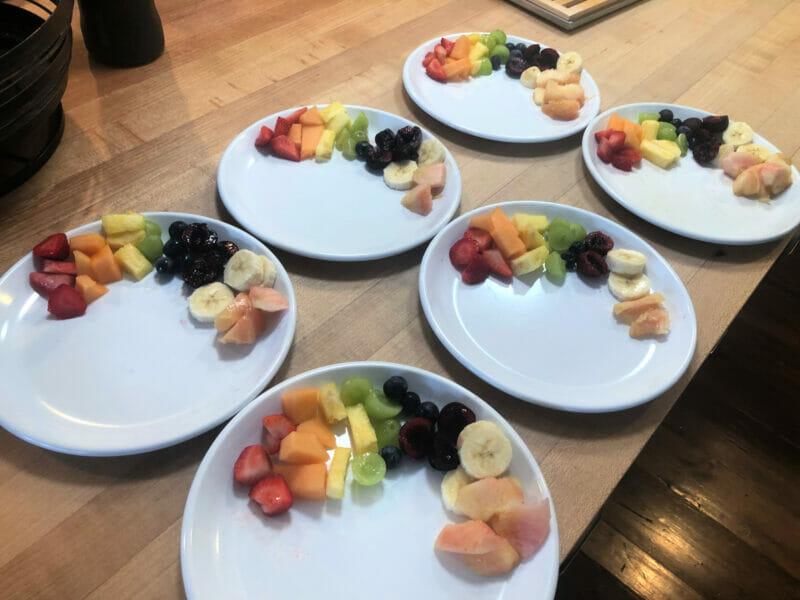 rainbow breakfast fruit