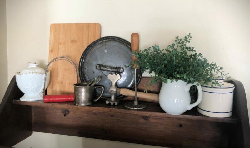 sentimental items on display