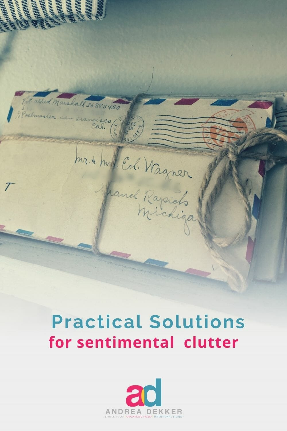 Do you feel burdened with sentimental clutter? If so, these practical solutions will help you use and enjoy your sentimental items… and give you permission to let go of the rest. via @andreadekker