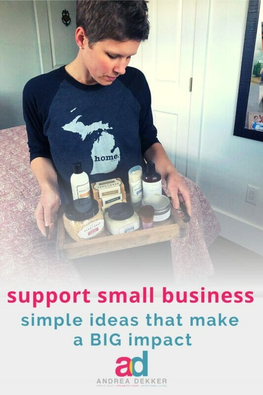 simple ideas to support small businesses