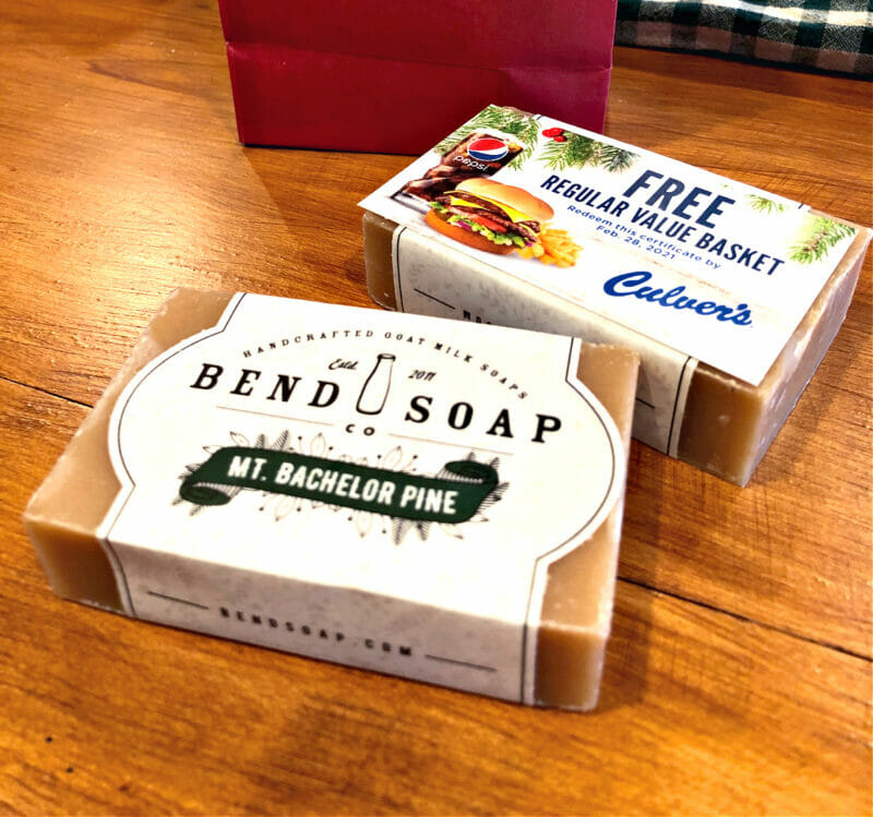 bend soap with gift card