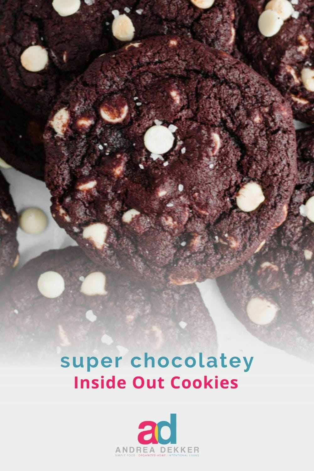 Inside out cookies are a favorite around our house — they are the perfect combination of crispy on the outside but still soft and chewy on the inside. And… they're really easy to make! via @andreadekker