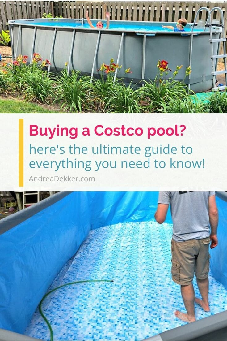 If you're looking for a fun and frugal way to enjoy summer at home with your family, consider getting a pool! Learn everything you ever wanted to know about how to install and set up an above ground Costco swimming pool before you head to the store to buy! via @andreadekker