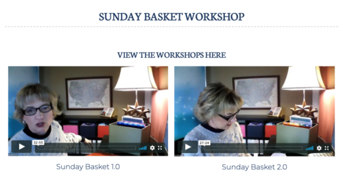 sunday basket videos