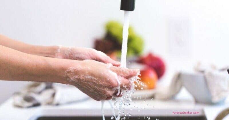 washing germs away